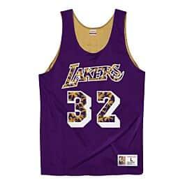 Mitchell /& Ness LA Lakers Johnson Mens Reversible Tank Top Vest NNRMDA18007 JH84