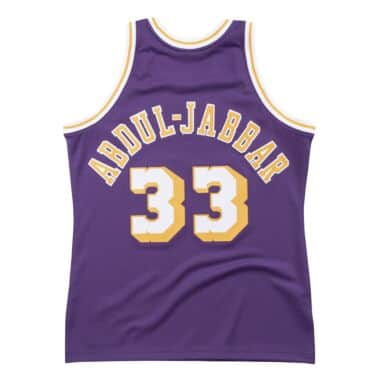 Authentic Jersey Los Angeles Lakers 1983-84 Kareem Abdul-Jabbar