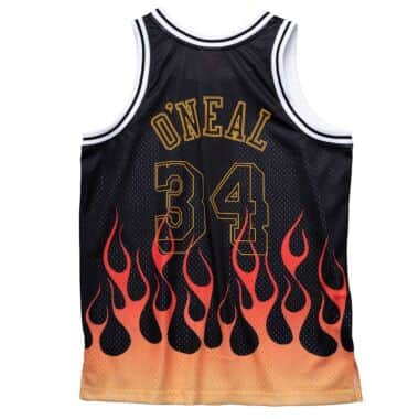 Flames Swingman Shaquille O'Neal Los Angeles Lakers 1996-97 Jersey