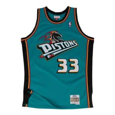 Detroit Pistons Mens Mitchell /& Ness Team History Warm Up Basketball Jacket L