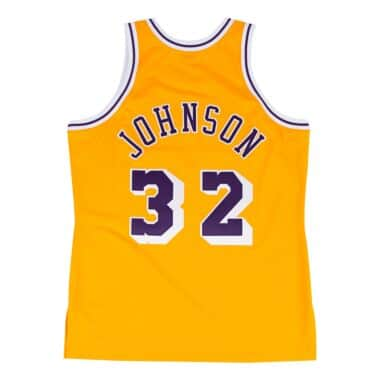 cheaper d9710 b9030 Magic Johnson 1984-85 Authentic Jersey Los Angeles Lakers ...