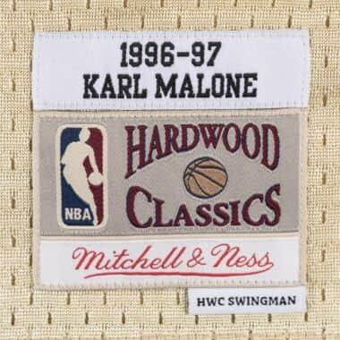 buy popular 4ba13 893f3 Karl Malone Gold Swingman Jersey Utah Jazz Mitchell & Ness ...