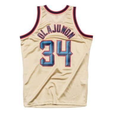 newest 4bd4b 0f01a Hakeem Olajuwon Gold Swingman Jersey Houston Rockets ...