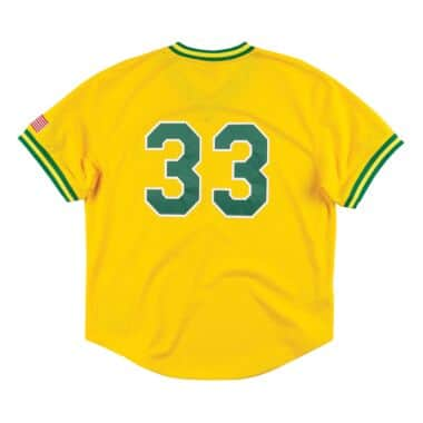 buy popular cb5ea 6434c Authentic Mesh BP Jersey Oakland Athletics 1990 Jose Canseco