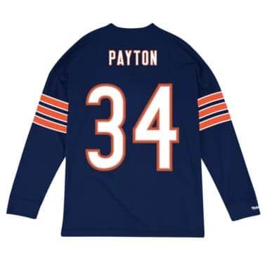 super popular 6b1ae 6fdbc Name & Number Longsleeve Chicago Bears Walter Payton