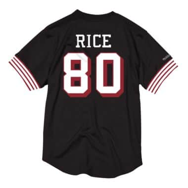 finest selection b2d18 72bd9 Name & Number Mesh Crew Neck San Francisco 49ers Jerry Rice ...