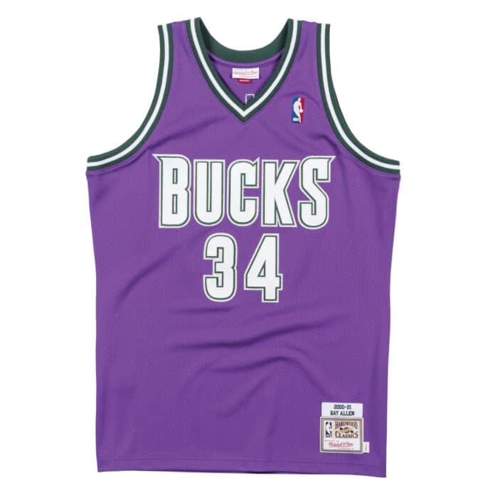 Authentic Jersey Milwaukee Bucks Road 2000-01 Ray Allen