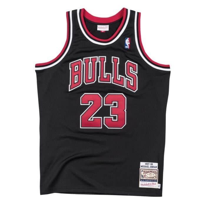 Authentic Jersey Chicago Bulls Alternate 1997-98 Michael Jordan