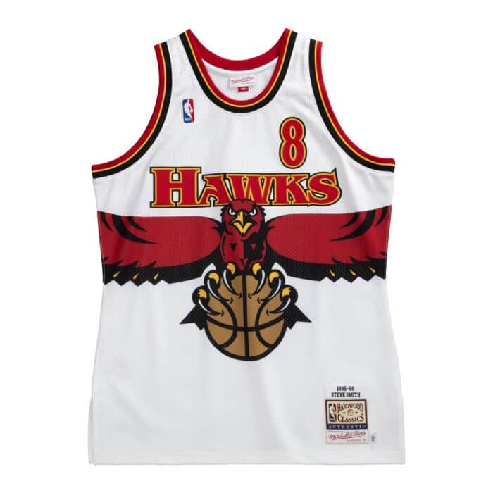 Authentic Steve Smith Atlanta Hawks 1995-96 Jersey