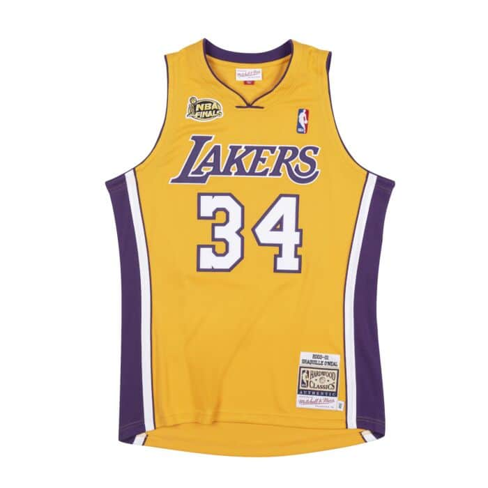 Authentic Shaquille O'Neal Los Angeles Lakers 2000-01 Jersey