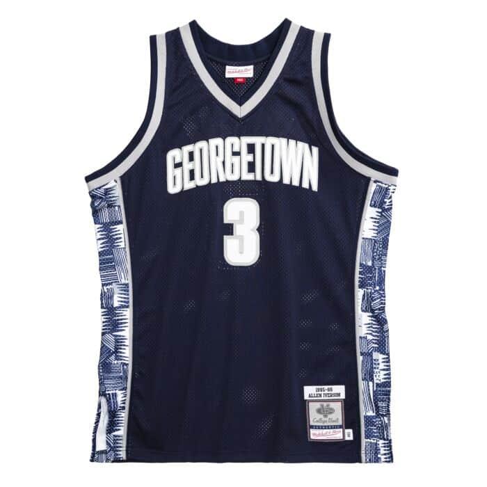 Authentic Jersey Georgetown University 1995-96 Allen Iverson