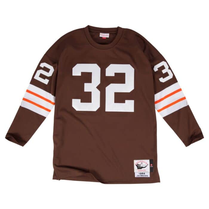 Authentic Jersey Cleveland Browns 1964 Jim Brown