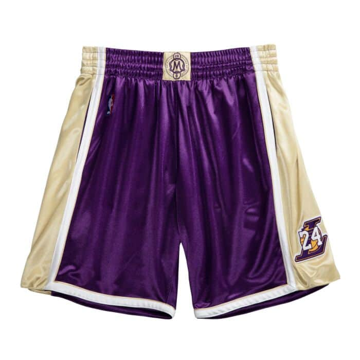Authentic HOF #24 Kobe Bryant Los Angeles Lakers 1996-2016 Shorts