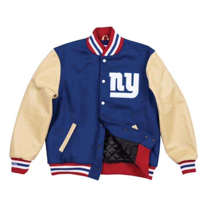 New York Giants Mens Varsity Suede Leather Jacket