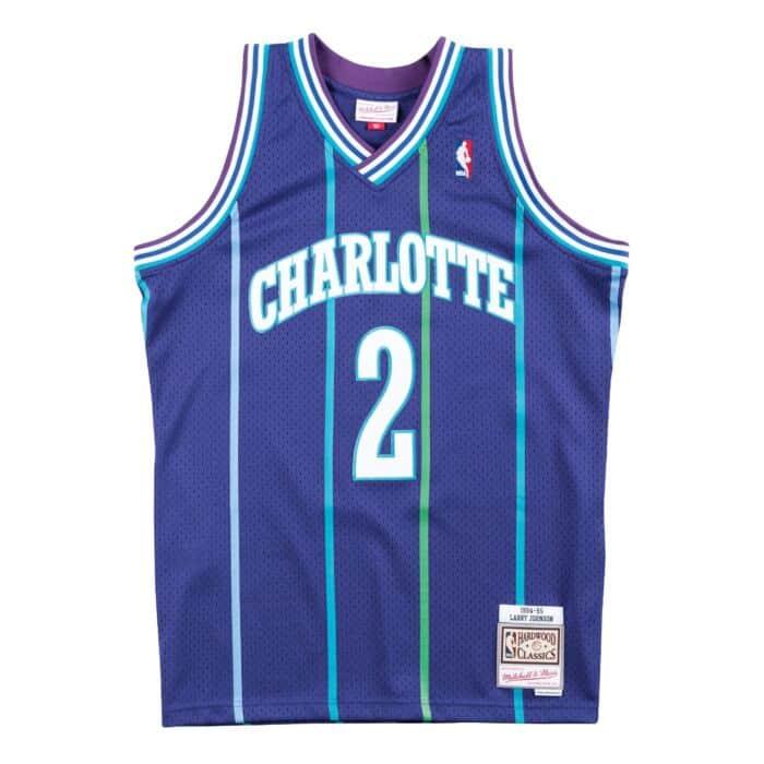 Swingman Jersey Charlotte Hornets Alternate 1994-95 Larry Johnson