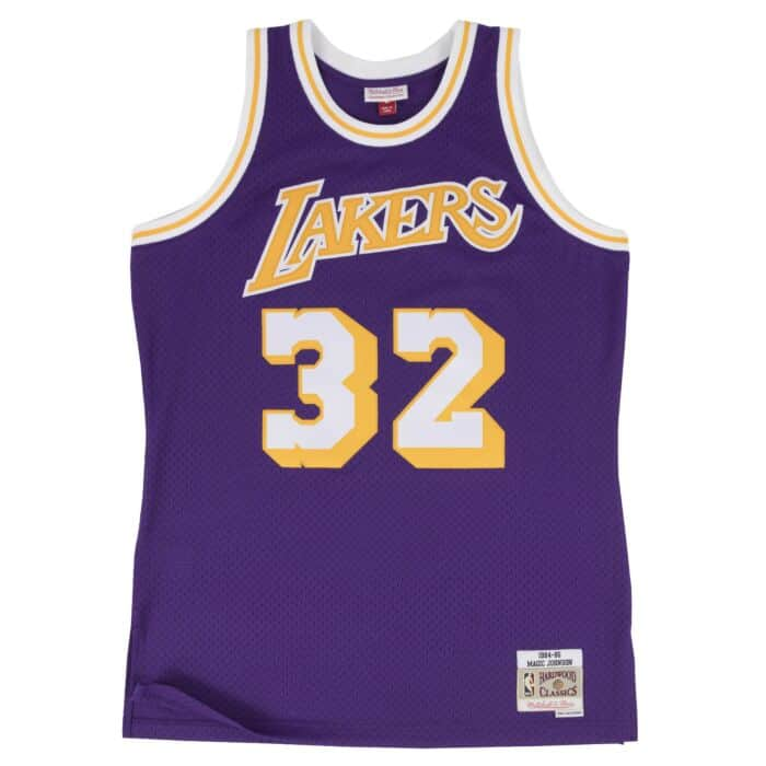 Swingman Jersey Los Angeles Lakers Road 1984-85 Magic Johnson