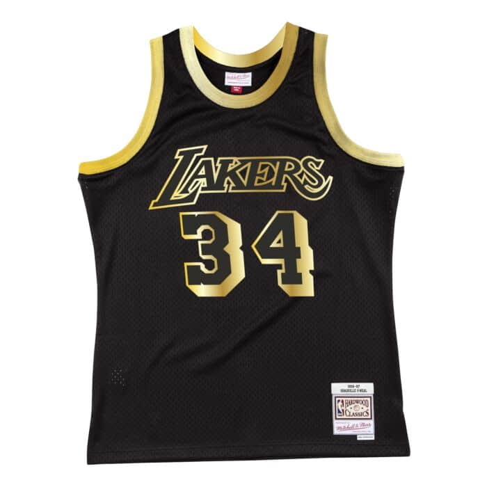 Black Gold Swingman Shaquille O'Neal Los Angeles Lakers 1996-97 Jersey