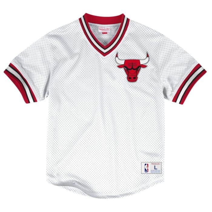 a75f1f646 Mesh V-Neck Top Chicago Bulls Mitchell & Ness Nostalgia Co.