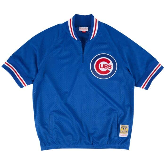 new styles b19f5 6b8df 1/4 Zip BP Jersey Chicago Cubs Mitchell & Ness Nostalgia Co.