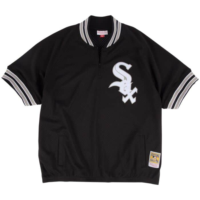 new arrive 4ed43 8157e Bo Jackson 1/4 Zip BP Jersey Chicago White Sox Mitchell ...