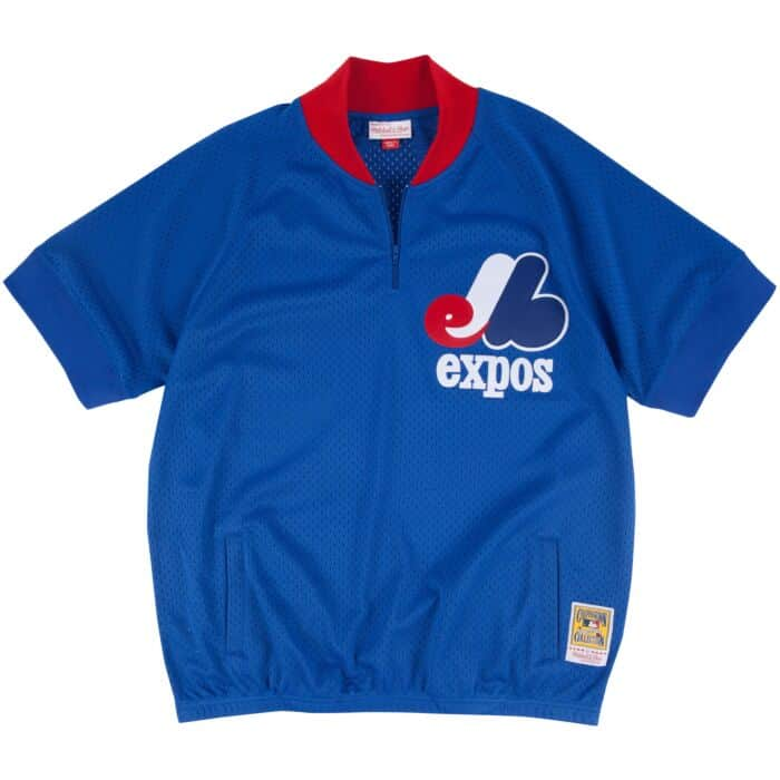sneakers for cheap 03c0d 4bda1 1/4 Zip BP Jersey Montreal Expos Mitchell & Ness Nostalgia Co.