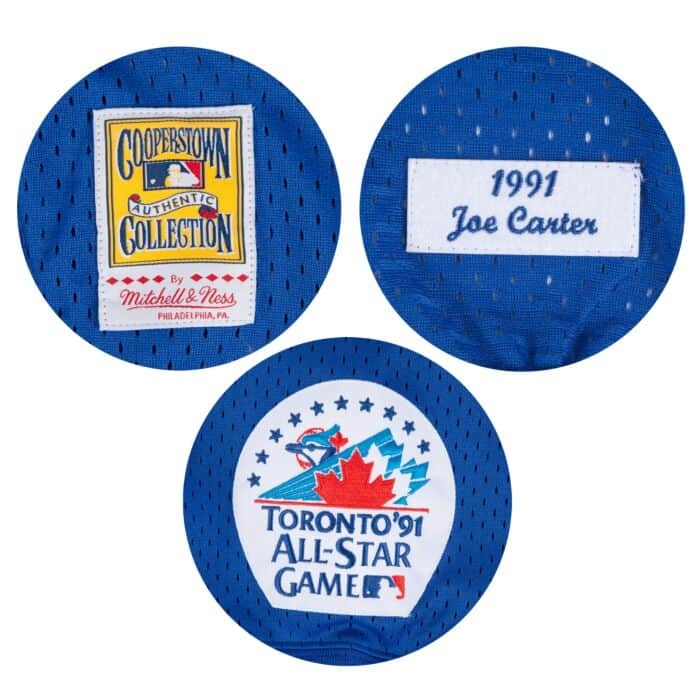 premium selection 531e6 59c7b Joe Carter 1/4 Zip BP Jersey Toronto Blue Jays Mitchell ...