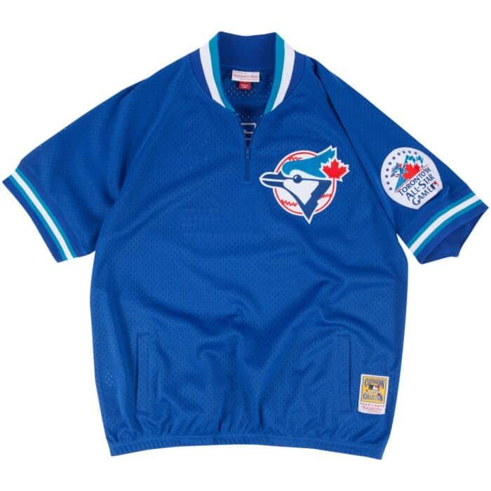 finest selection ba1d2 b65d3 Roberto Alomar 1/4 Zip BP Jersey Toronto Blue Jays Mitchell ...