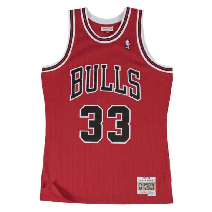 buy popular 9ac47 b9fbc Scottie Pippen Swingman Jersey Chicago Bulls Mitchell & Ness ...