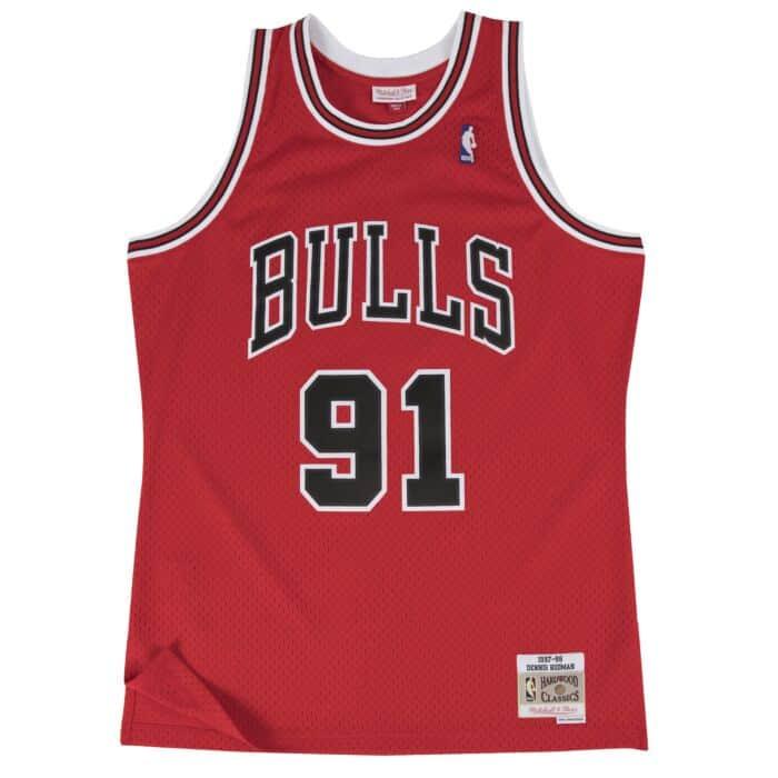 free shipping 72669 e892a Dennis Rodman Swingman Jersey Chicago Bulls Mitchell & Ness ...