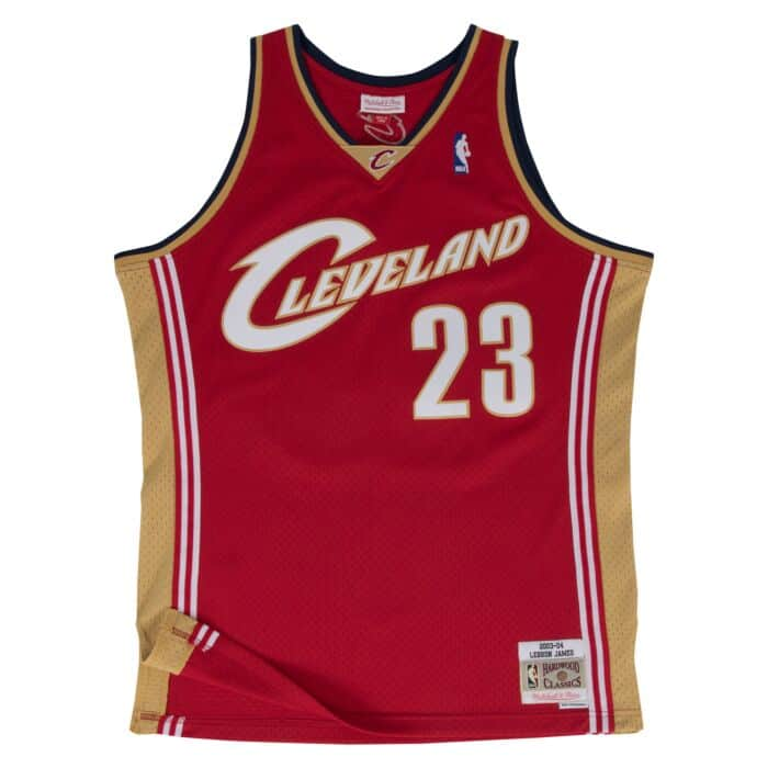 timeless design 1cbb7 19890 LeBron James Swingman Jersey Cleveland Cavaliers Mitchell ...