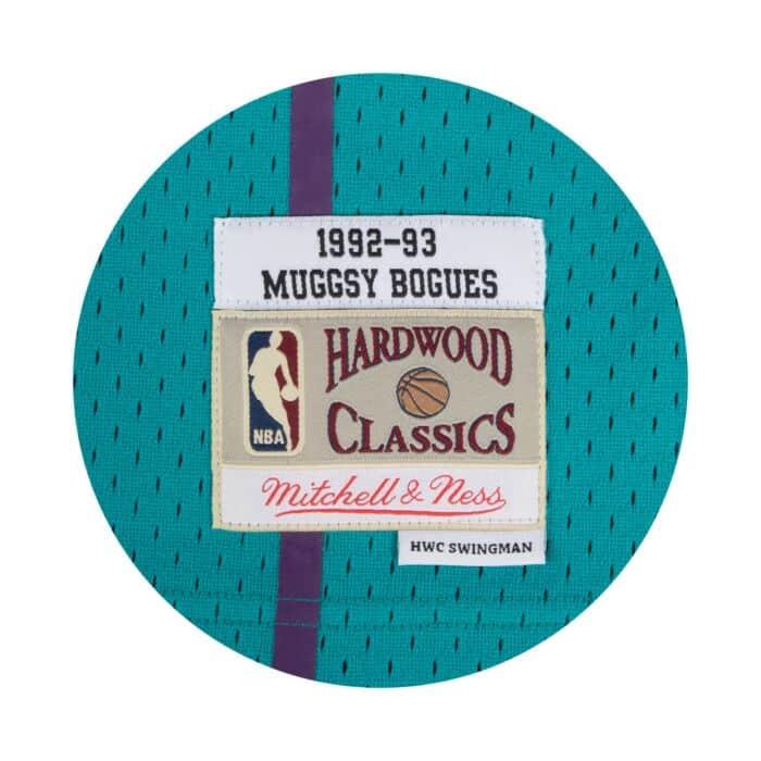 online store 882f3 a0ec4 Muggsy Bogues Swingman Jersey Charlotte Hornets Mitchell ...