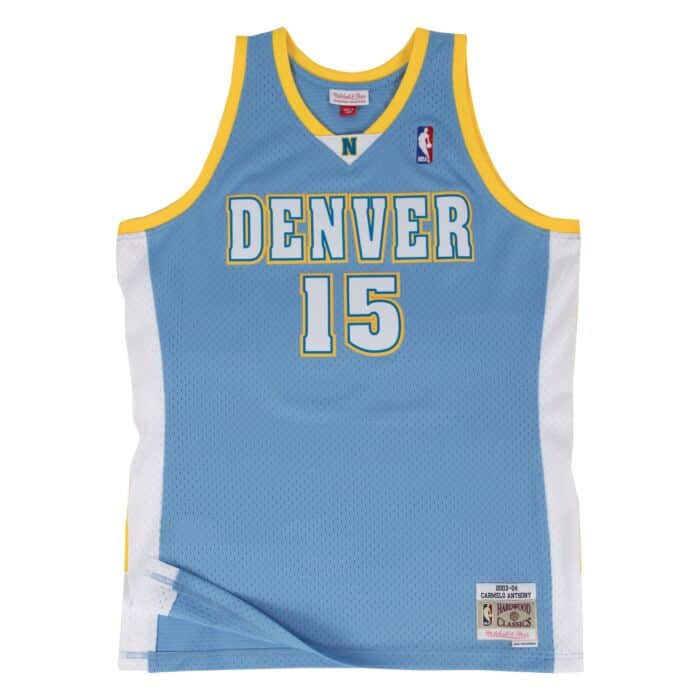 official photos 7469e 94ab2 Carmelo Anthony Swingman Jersey Denver Nuggets Mitchell ...