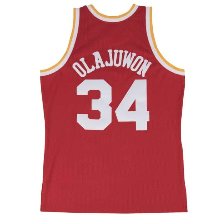 promo code 0694b 6c8a9 Hakeem Olajuwon Swingman Jersey Houston Rockets Mitchell ...