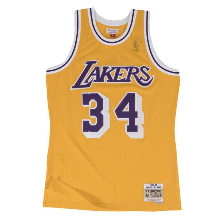 the latest 16a97 ee91c Shaquille O'Neal Swingman Jersey Los Angeles Lakers Mitchell ...