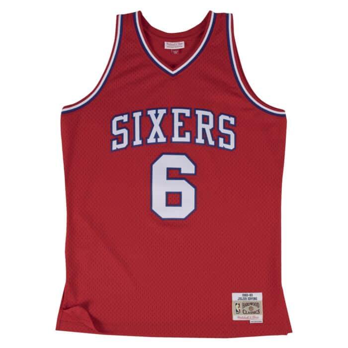 best loved da3ea 0c151 Julius Erving Swingman Jersey Philadelphia 76ers Mitchell ...