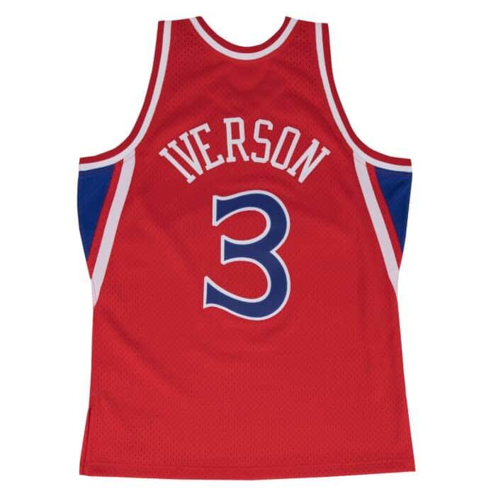 timeless design 31299 07e70 Allen Iverson Swingman Jersey Philadelphia 76ers Mitchell ...