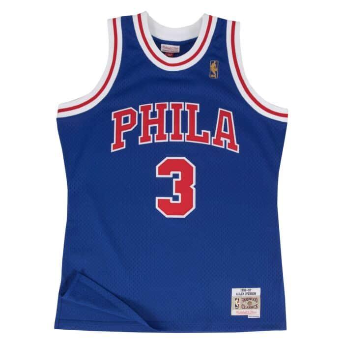 timeless design 690db 5dadb Allen Iverson Swingman Jersey Philadelphia 76ers Mitchell ...