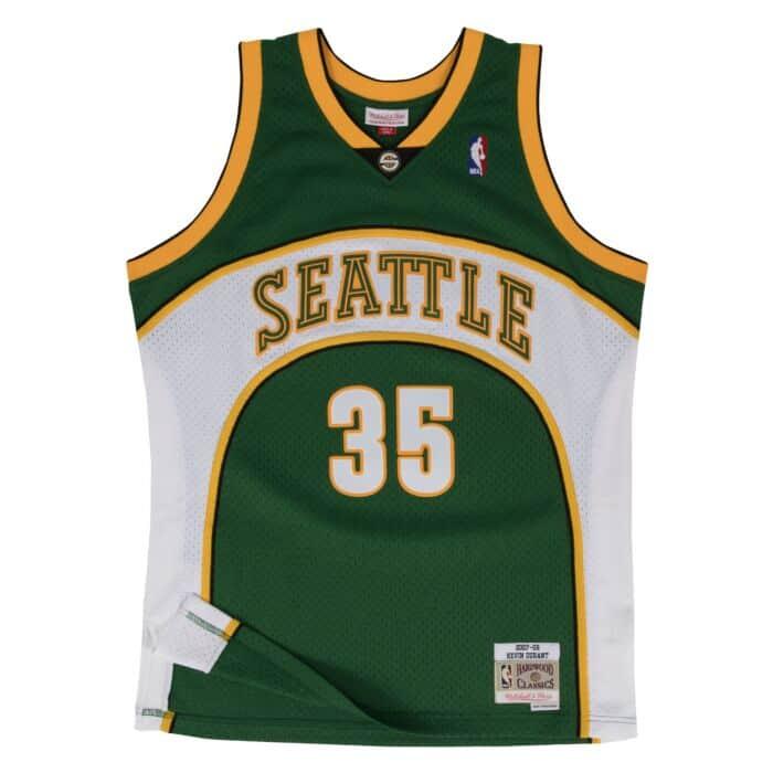 KD Jersey Kevin Durant Swingman Jersey Seattle SuperSonics Mitchell & Ness ...