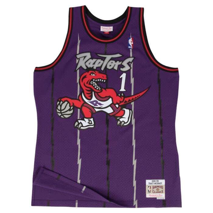 cheaper 8e9ac 94bc4 Tracy McGrady Swingman Jersey Toronto Raptors Mitchell ...