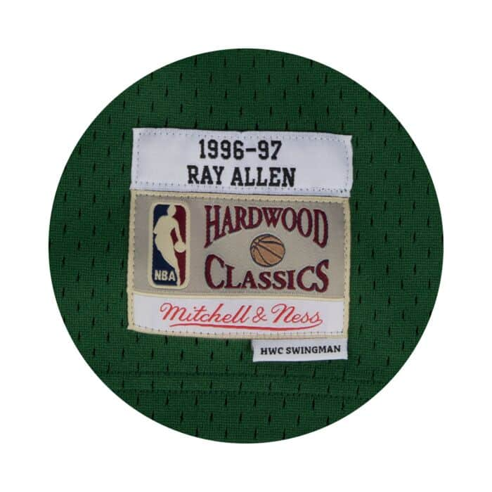 info for 0120d 94686 Ray Allen Swingman Jersey 1996-97 Milwaukee Bucks Mitchell ...