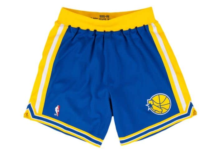 b2d1fe1fe7c7d 1995-96 Authentic Shorts Golden State Warriors Mitchell & Ness ...