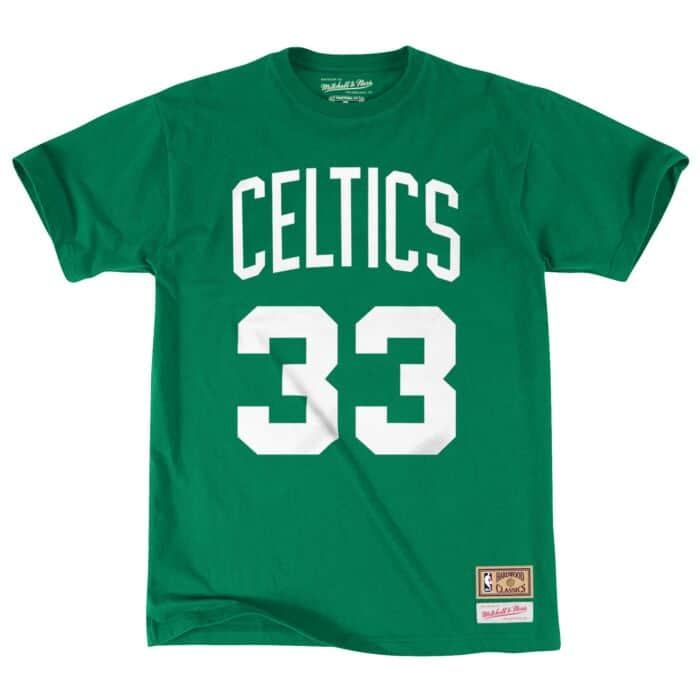 the latest 148ed 4991e Larry Bird Name & Number Tee Boston Celtics Mitchell & Ness ...
