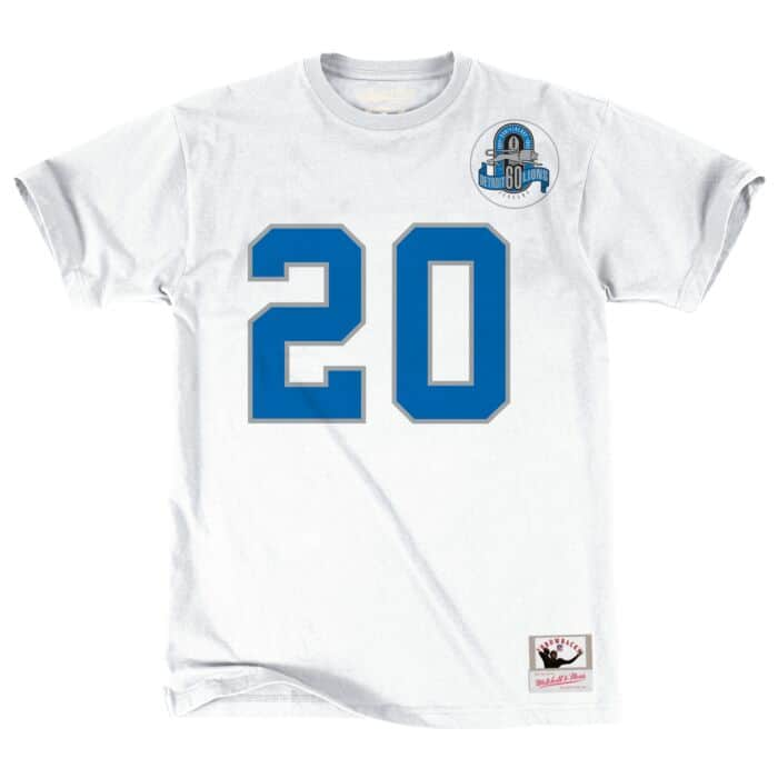 huge selection of fa8c2 9fc91 Barry Sanders Name & Number Tee Detroit Lions Mitchell ...