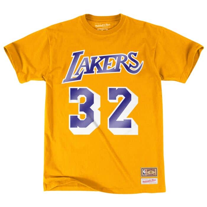 Magic Johnson Name & Number Tee Los Angeles Lakers Mitchell