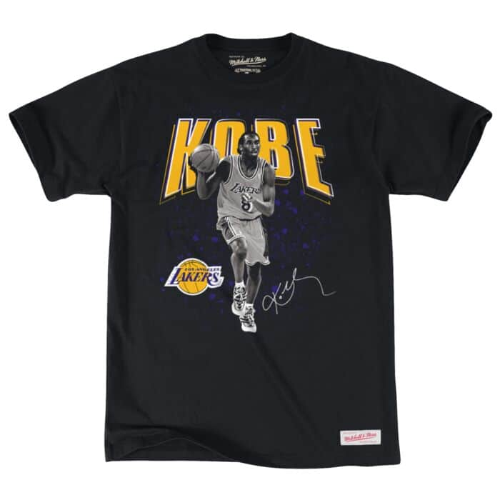 hot sale online 1a845 86ecd Kobe Bryant B&W Photo Real Tee Los Angeles Lakers Mitchell ...