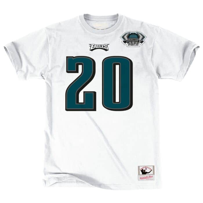 official photos 5f0d8 a7d6d Brian Dawkins Name & Number Tee Philadelphia Eagles Mitchell ...
