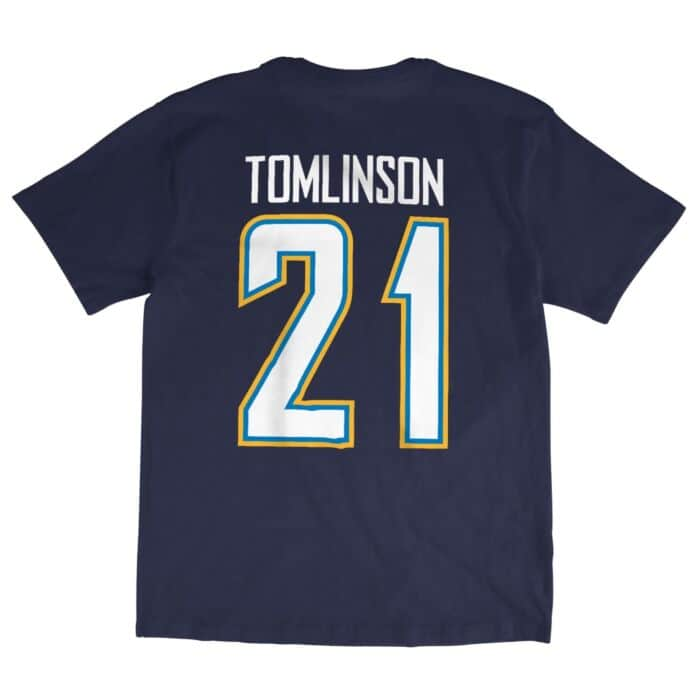 buy popular e0fde f8ec9 LaDainian Tomlinson Name & Number Tee San Diego Chargers