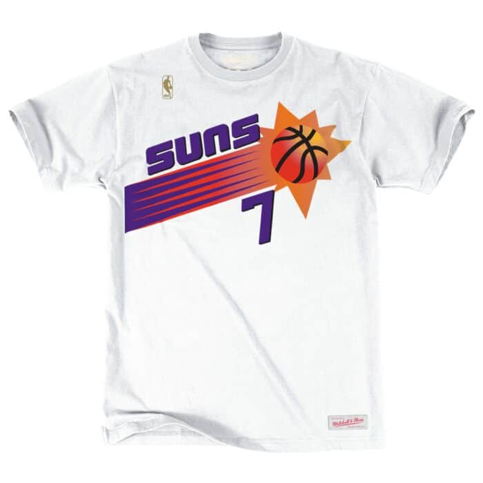 save off fb769 09cf2 Kevin Johnson Name & Number Tee Phoenix Suns Mitchell & Ness ...