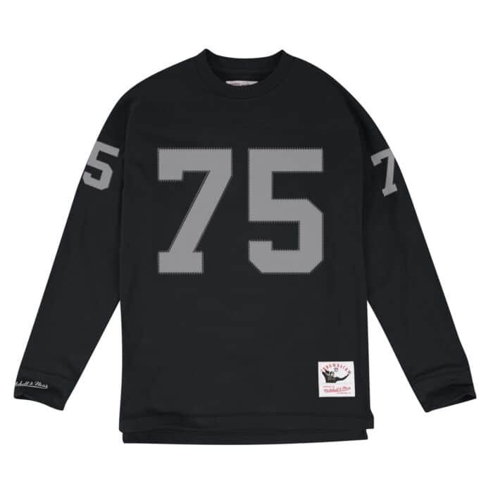 new styles 2eb91 5efa1 Howie Long Name & Number Longsleeve Los Angeles Raiders ...