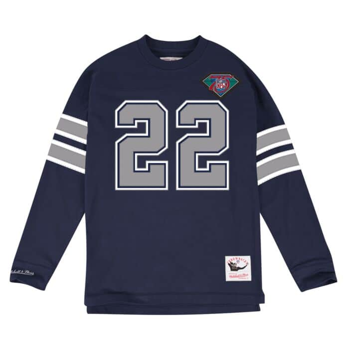 release date: 68ef8 86cf9 Emmitt Smith Name & Number Longsleeve Tee Dallas Cowboys ...